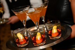 BARDOT's signature cocktails were passed at the opening