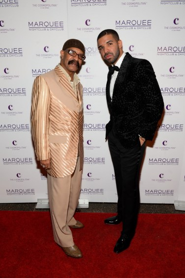 Dennis Graham and son Drake at Marquee for NYE 2015