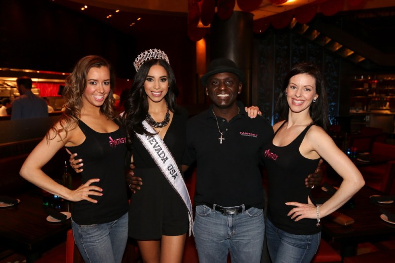 Sean E. Cooper and ladies of FANTASY at Luxor with Miss Nevada USA 2015 Brittany McGowan