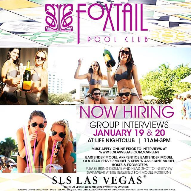 Foxtail Pool Club Now Hiring