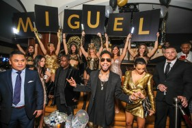 Miguel receives a warm welcome at Hyde Bellagio, Las Vegas 12.31.14, Photo Credit Tony Tran