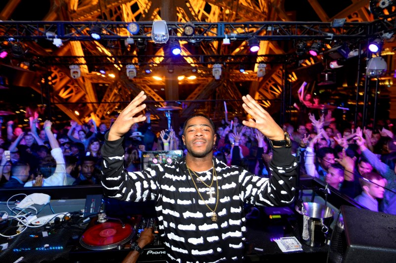 Malcolm Butler poses in the DJ booth