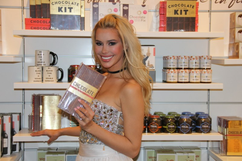 Kennedy Summers and chocolate at Hexx