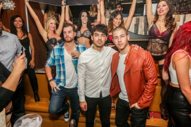Joe Jonas and Nick Jonas at Hyde Bellagio