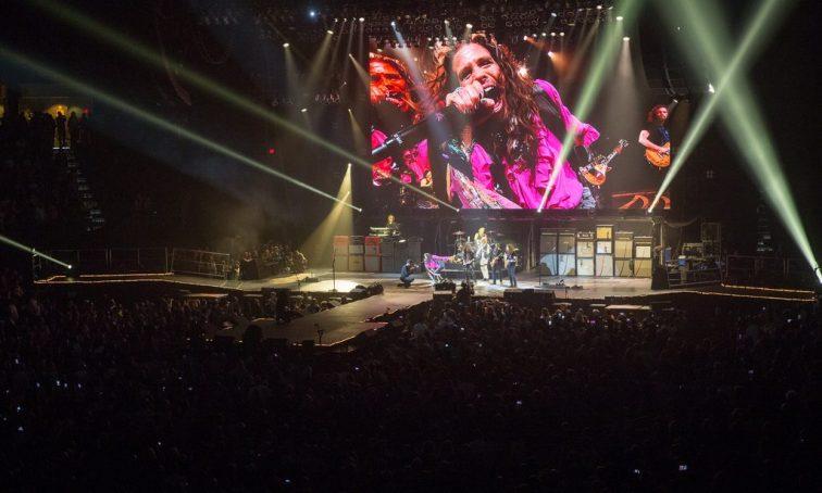 Aerosmith performs at MGM Grand Garden Arena