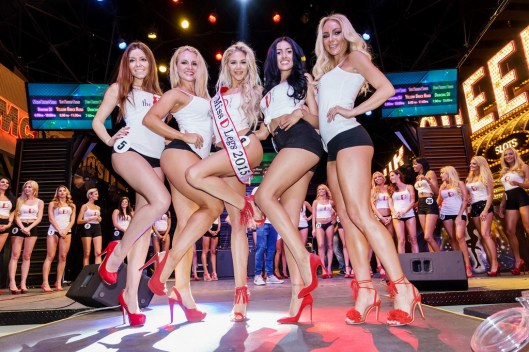 Top Five Winners of Miss D Contestants at the D (Glen Brogan)