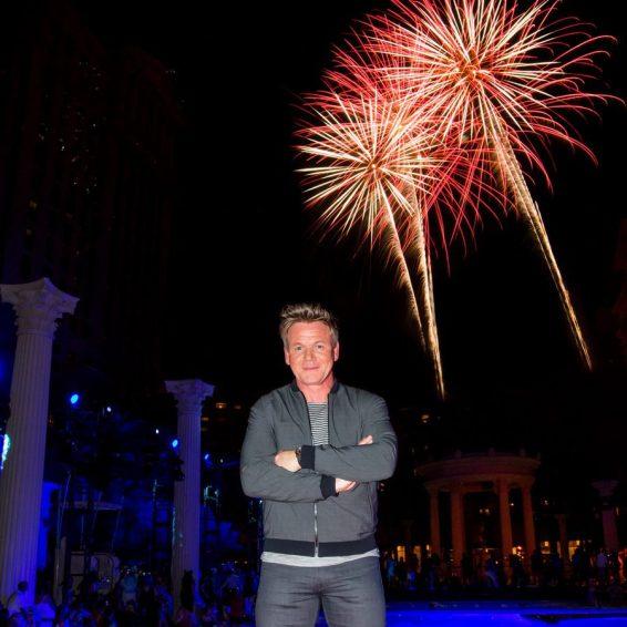 Gordon Ramsay at Caesars Palace 50th Anniversary Celebration Weekend