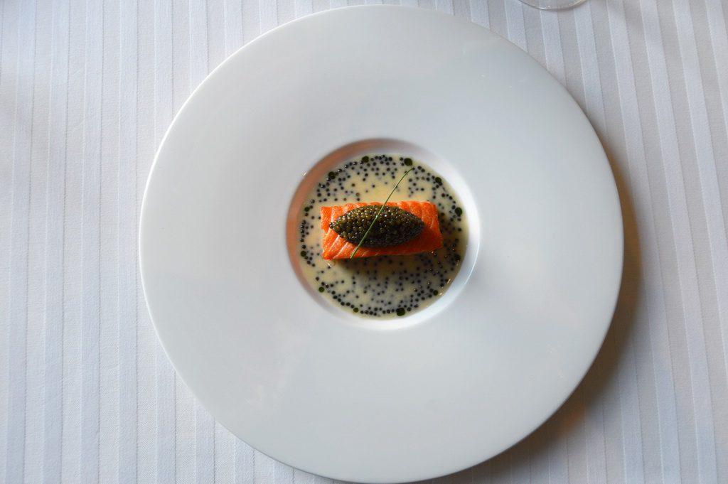 Salmon Mi Cuit at Restaurant Guy Savoy