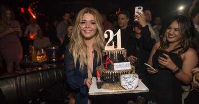 Sasha Pieterse Celebrates Her 21st Birthday at Marquee