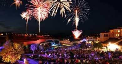 Fireworks at Lake Las Vegas