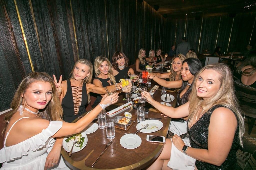 Joanna Krupa, Marta Krupa, and Friends at MB Steak