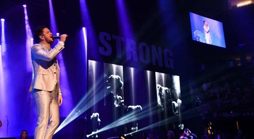 Dan Reynolds of Imagine Dragons Performs at Vegas Strong Benefit Concert