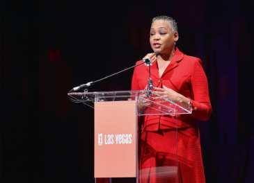WNBA President Lisa Borders Speaks at the Las Vegas Aces & MGM Resorts Press Event
