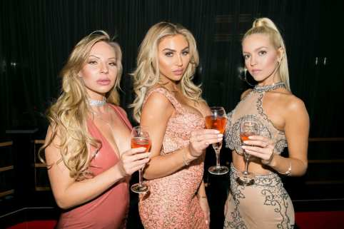 Maisa Kehl, Khloe Terae and Chealse Sophia Howell with Drinks at Crazy Horse III