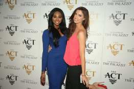 Nana Meriwether and Katherine Webb on the red carpet at The ACT Nightclub
