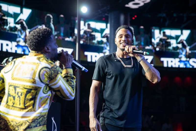 Trey Songz and Kevin Hart