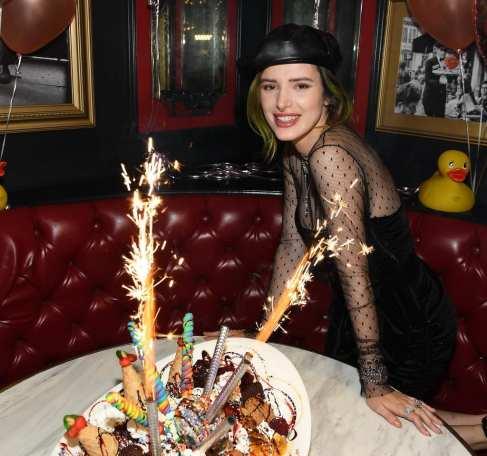 Bella Thorne enjoys Sugar Factory's world famous King Kong Sundae
