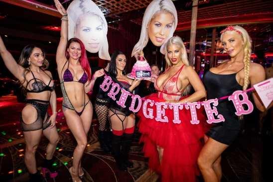Bridgette B with Birthday Banner