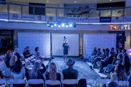 Las Vegas Fashion Council - LVFC President Carrie Cooper addresses the guests. Photo Credit_ Joel Cada