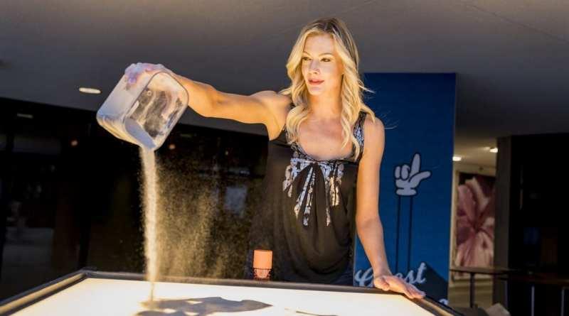 Las Vegas Fashion Council - Sand art performance by Teresa Kae of The Quicksand Art. Photo Credit_ Joel Cada