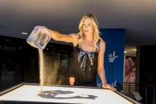 Las Vegas Fashion Council - Sand art performance by Teresa Kae of The Quicksand Art. Photo Credit_ Joel Cada