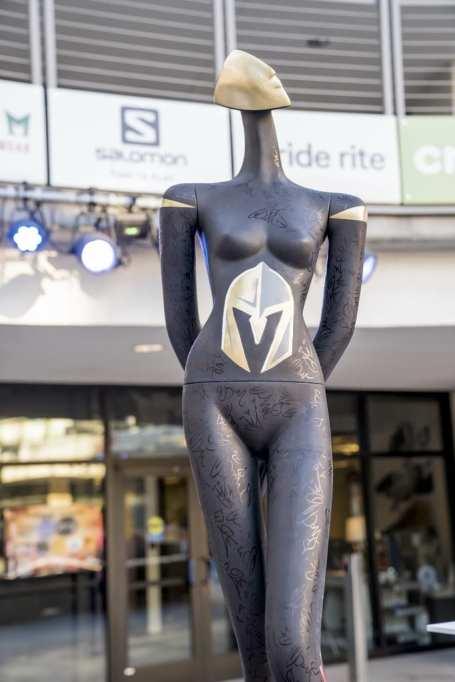 Las Vegas Fashion Council - Vegas Golden Knights Mannequin Photo Credit_ Joel Cada