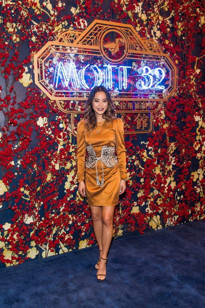 Jamie Chung attends the Mott 32 grand opening at The Venetian Resort Las Vegas, 12.28.18_credit Brenton Ho
