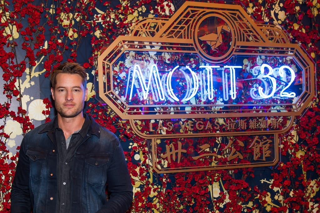 Justin Hartley attends the Mott 32 grand opening at The Venetian Resort Las Vegas, 12.28.18_credit Brenton Ho (2)