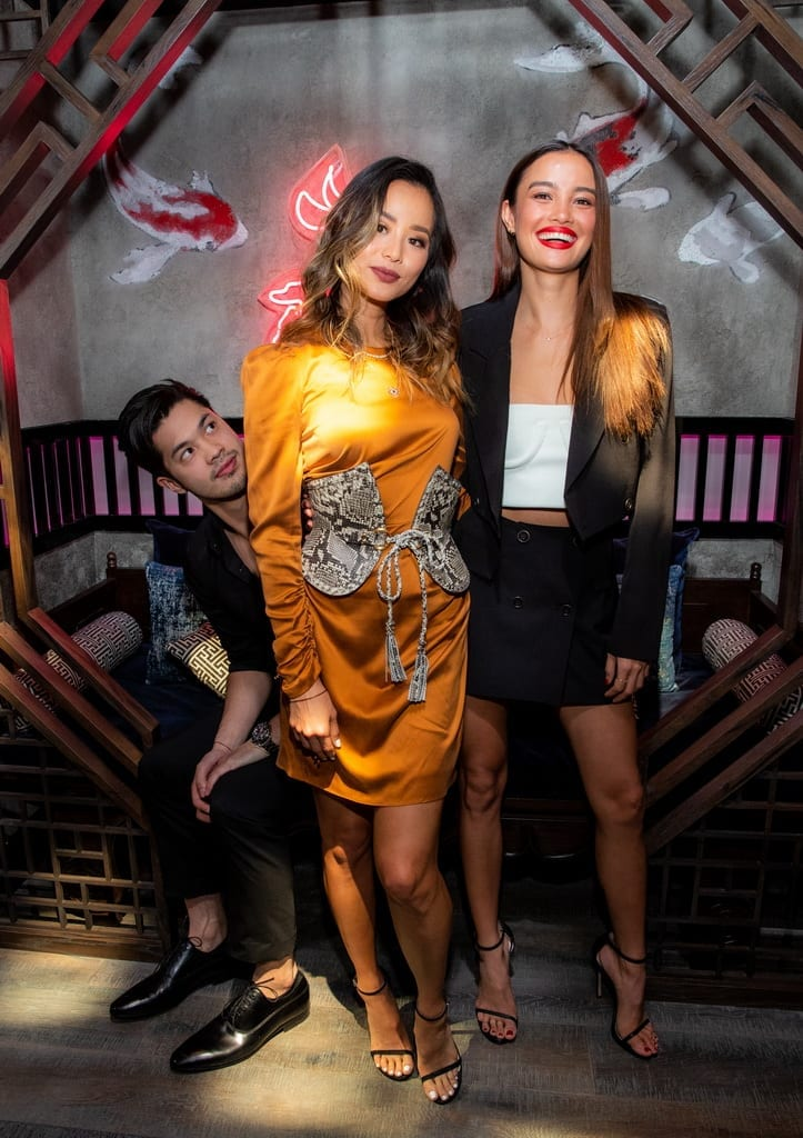 Ross Butler, Jamie Chung and Kelsey Merritt at the Mott 32 grand opening celebration at The Venetian Resort Las Vegas, 12.28.18_Credit Erik Kabik