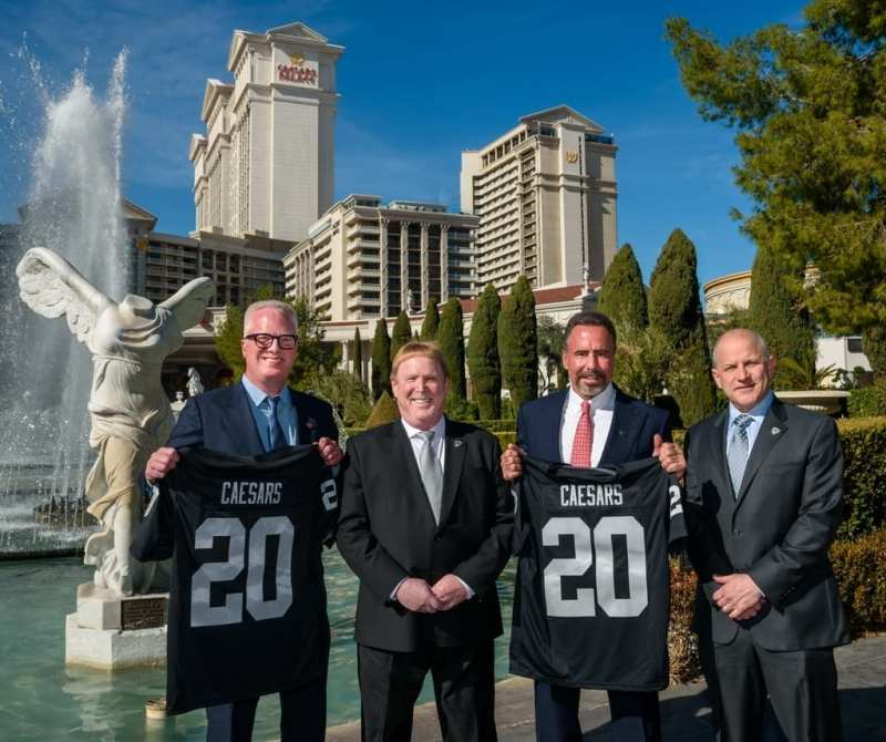 Chris Holdren, Mark Davis, Mark Frissora, and Marc Badain at Caesars Palace