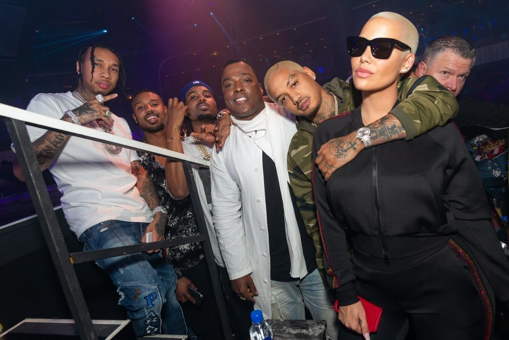 Tyga, Amber Rose and Michael B. Jordan Celebrate 2019 at JEWEL Nightclub Inside ARIA Resort & Casino_ Photo Credit Wolf Productions