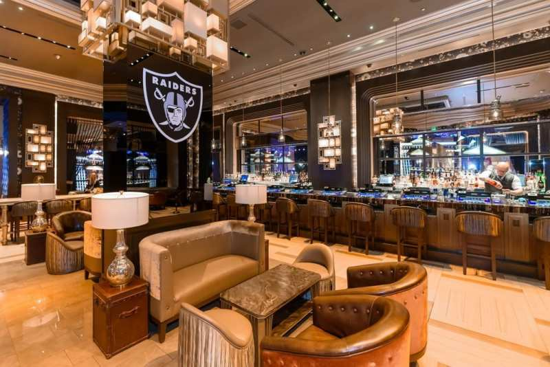 VISTA Cocktail Lounge at Caesars Palace will be transformed into a Raiders Headquarters from now through Monday, Feb. 4