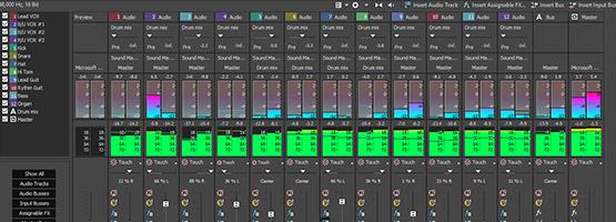 Complete multitrack audio environment