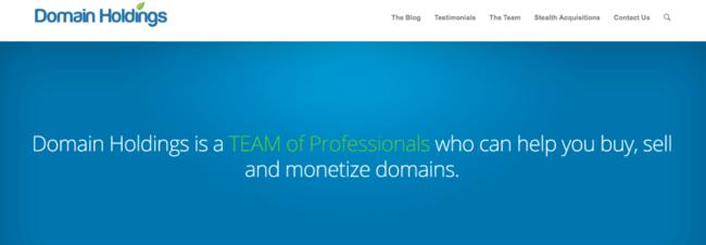 Изображение домашней страницы сайта Domain Holdings
