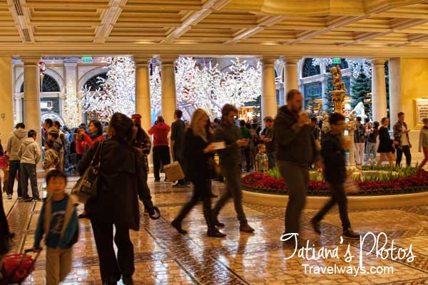 Bellagio hotel lobby - entrance to the winter garden