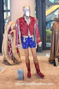 Red, White, and Blue Hot Pants Ensemble at Liberace Cosmopolitan Exhibition, Las Vegas