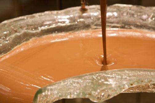Mocha chocolate fountain at Bellagio