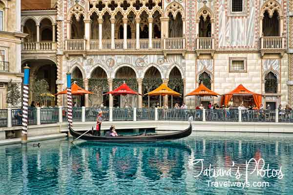 Gondola ride at Venetian, Las Vegas
