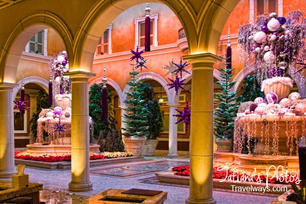 Winter decorations at Bellagio hotel lobby, Las vegas