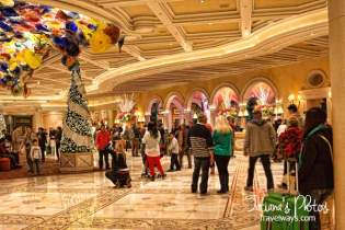 Bellagio Hotel Lobby at Winter Holidays