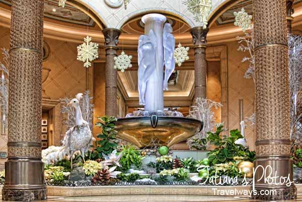 Winter decorations at Palazzo, Las Vegas