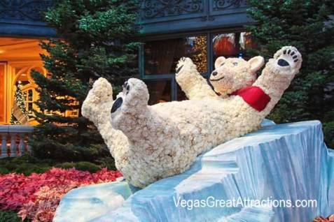 winter theme bellagio polar bear