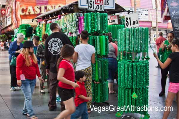 St. Patrick's day celebration on Fremont Street Experience - Vendors