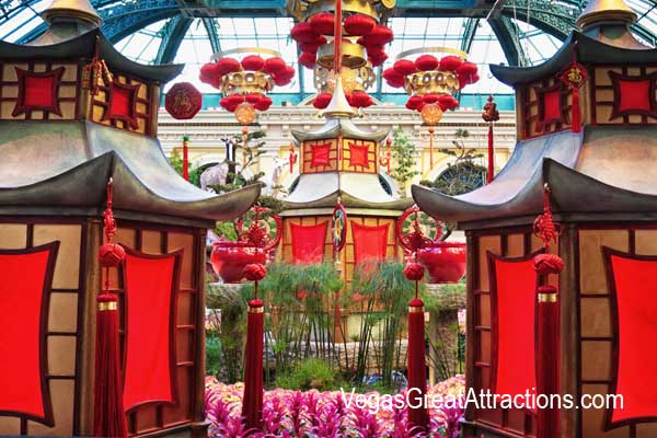 Year of the Goat Las Vegas - Chinese New Year decorations at Bellagio Gardens and Conservatory 2015