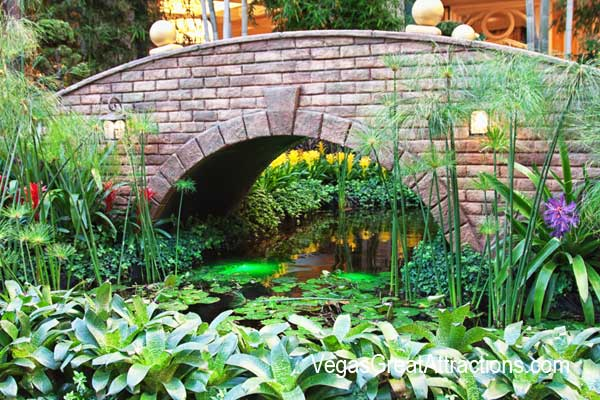 Chinese New Year Bellagio Gardens and Conservatory 2015 - Bridge over a small stream