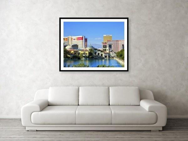 Bellagio villa framed art print