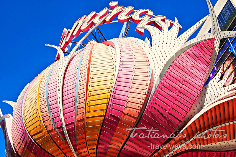 Flamingo Las Vegas iconic neon sign on the strip