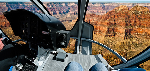 Helicopeter tour over Grand Canyon