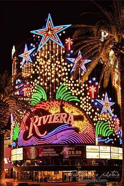 Neon sign on Riviera hotel
