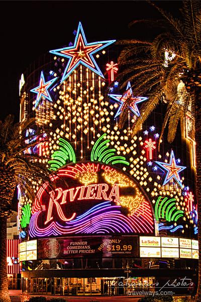 Riviera hotel neon sign